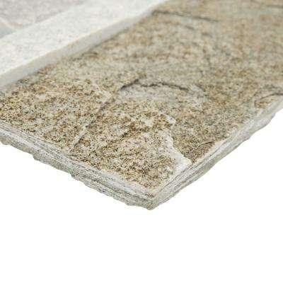 Ledger Panel Honey Corner 7 in. x 7 in. Natural Quartzite Wall Tile