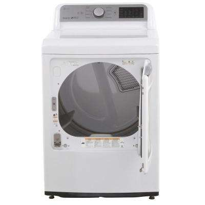 7.3 cu. ft. Smart Electric Dryer with WiFi Enabled in White, ENERGY STAR