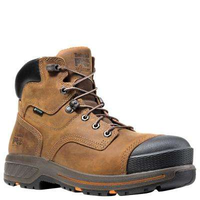 TBL PRO Men's Distressed Brown Helix HD Composite Toe WP Work Boot