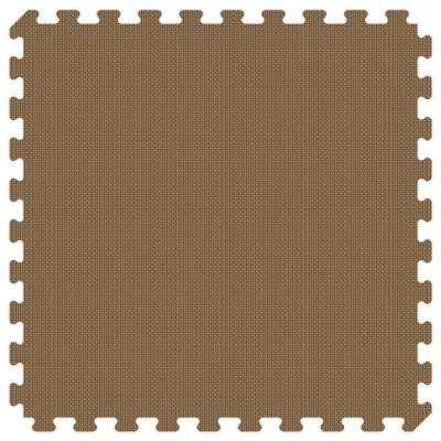 Brown and Tan Reversible 24 in. x 24 in. Thick Comfortable Mat (100 sq.ft. / Case)