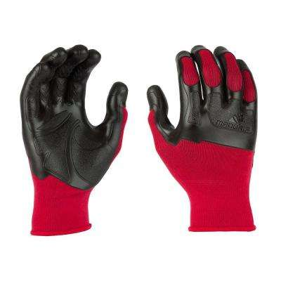 Pro Palm Small Flex Knuckler Glove in Red/Black