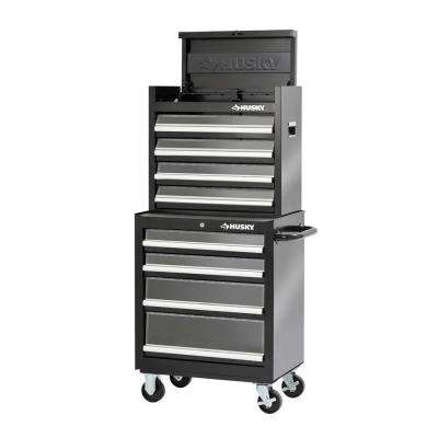 27 in. Clear View 8-Drawer Tool Chest and Cabinet Set