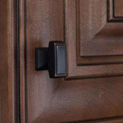 1-1/8 in. Oil Rubbed Bronze Deco Rectangle Cabinet Knobs (10-Pack)