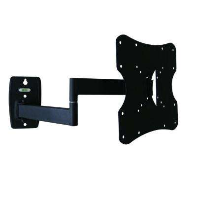 Multi Position TV Wall Mount for 14 in. - 37 in. Flat Panel TVs Built-In Level, 20 Degree Tilt, 81 lb. Load Capacity