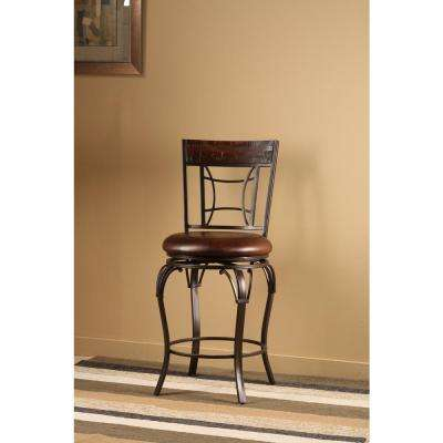 Granada 30 in. Dark Chestnut Finish Swivel Cushioned Bar Stool