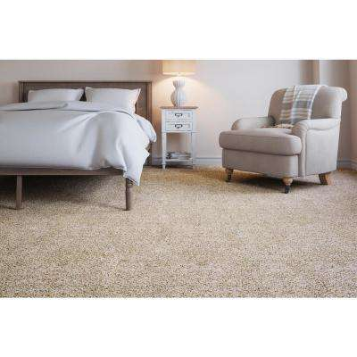 Carpet Sample - Soft Breath II - Color Fawn Creek Texture 8 in. x 8 in.