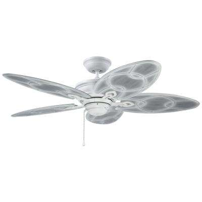 Kailua Cove 52 in. LED Indoor / Outdoor Satin White Ceiling Fan