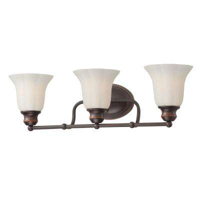 Fountaine Collection 3-Light Oil Rubbed Bronze Bath Bar Light
