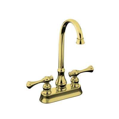 Revival 2-Handle Bar Faucet in Vibrant Polished Brass