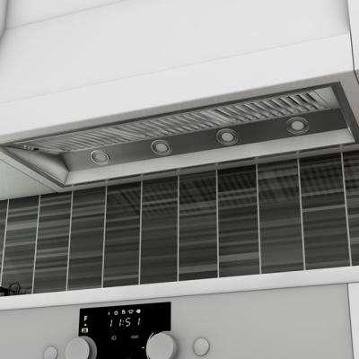 ZLINE 46 in. 1200 CFM Outdoor Range Hood Insert in Stainless Steel