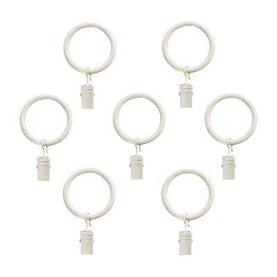 5/8 in. Clip Rings in Distressed White (7-Pack)