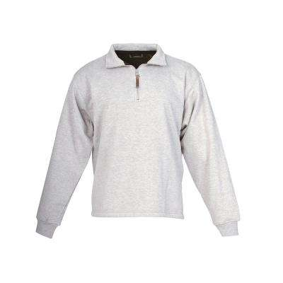 Men's Cotton and Polyester Quarter-Zip Thermal Lined Sweatshirt