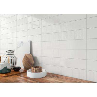 Citylights Pure 3D Mix Glossy 4 in. x 12 in. Glazed Ceramic Wall Tile (9.9 sq. ft./case )