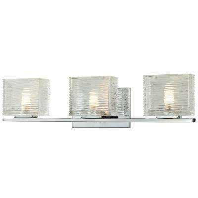 Pure 3-Light Chrome Bath Vanity Light
