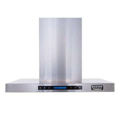 Pro-Style 36 in. Wall Mounted Range Hood in Stainless Steel