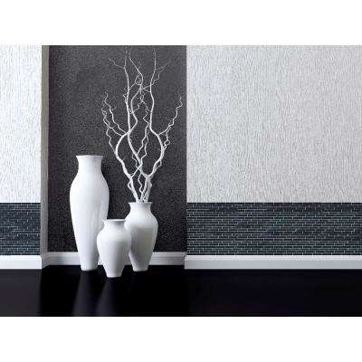 Landscape Swamp Black Linear Mosaic 1 in. x 4 in. Textured Glass Wall Pool and Floor Tile (1.04 Sq. ft.)