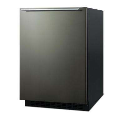 24 in. 4.6 cu. ft. Mini Refrigerator in Black Stainless Steel