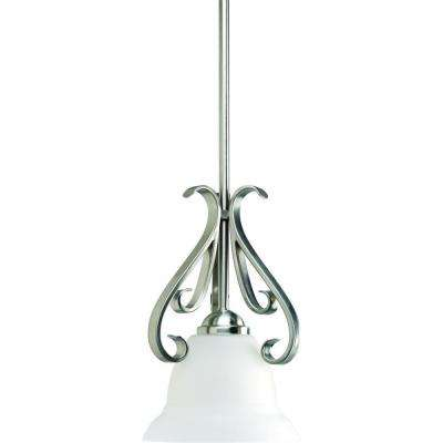 Torino Collection 1-Light Brushed Nickel Mini Pendant