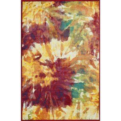 Lyon Lifestyle Collection Firework 5 ft. 2 in. x 7 ft. 7 in. Area Rug