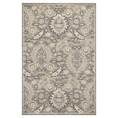 Abott Grey 5 ft. 3 in. x 7 ft. 7 in. All-Weather Area Rug