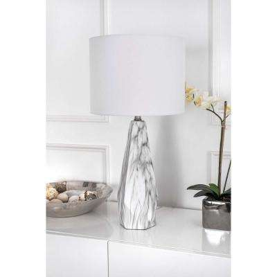 Calla Marble 25 in. Marble Table Lamp
