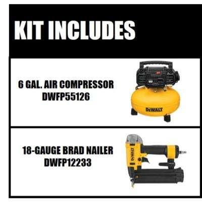 6 Gal. Portable Electric Air Compressor with Bonus Brad Nailer
