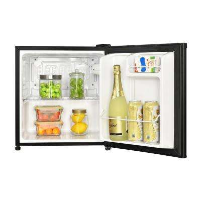 1.7 cu. ft. Freezerless Mini Fridge in Black