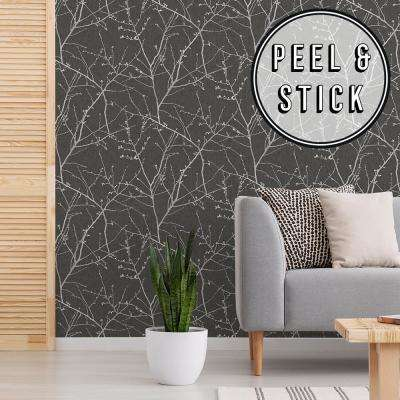 Transform Branches Charcoal Vinyl Peelable Roll (Covers 30.75 sq. ft.)