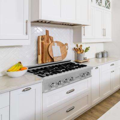 ZLINE 30 in. Porcelain Rangetop in DuraSnow® Stainless Steel with 4 Gas Burners