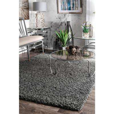 Shag Grey 3 ft. x 8 ft. Runner Rug