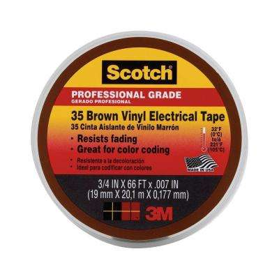 Scotch 3/4 in. x 66 ft. #35 Electrical Tape - Brown (Case of 5)