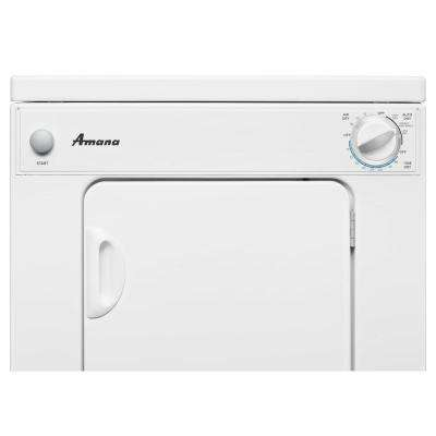 3.4 cu. ft. 240-Volt White Electric Compact Vented Dryer with Automatic Dryness Control