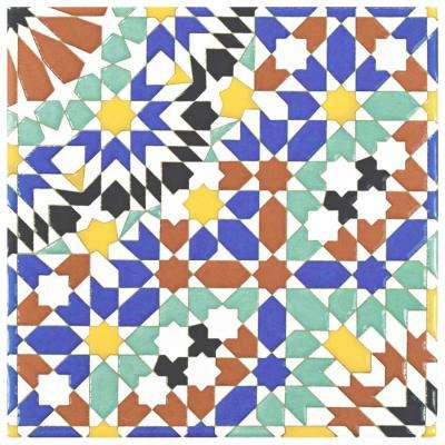 Sevillano Andalusia 7-7/8 in. x 7-7/8 in. Ceramic Wall Tile