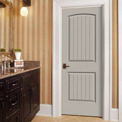 30 in. x 80 in. Santa Fe Desert Sand Right-Hand Smooth Solid Core Molded Composite MDF Single Prehung Interior Door