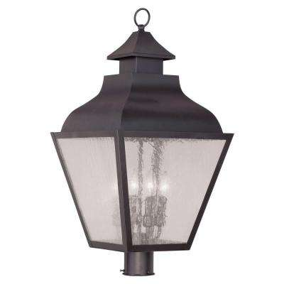 Providence 4-Light 28 in. Outdoor Bronze Post Head Lantern