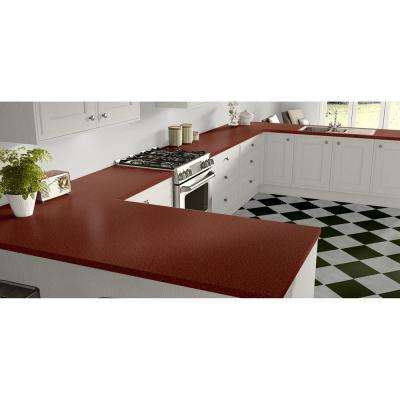 2 in. x 3 in. Laminate Countertop Sample in Retro Renovation Ruby with Standard Matte Finish