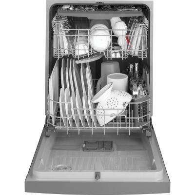 24 in. Front Control Built-In Tall Tub Dishwasher in Black Slate with Steam Prewash, Fingerprint Resistant, 50 dBA