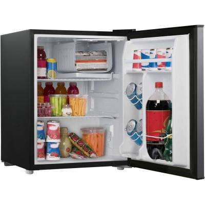 2.7 cu. ft. Mini Fridge Single Door Only in Stainless Steel Look