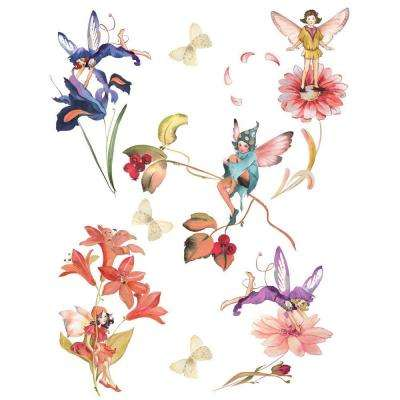 25.5 in. x 33.5 in. Fairies Wall Decal