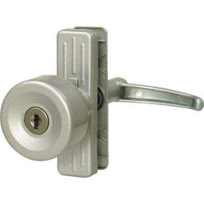 Tulip Knob Lock, Keyed, with 3 in. Hole Center, Aluminum