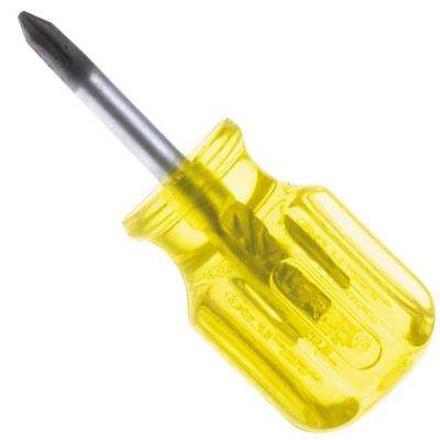 1-3/8 in. Stubby Type Round Shank Phillips Tip Amber Handle Screwdriver