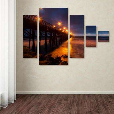 "40 in. x 58 in. ""Night Side"" by Chris Moyer Printed Canvas Wall Art"