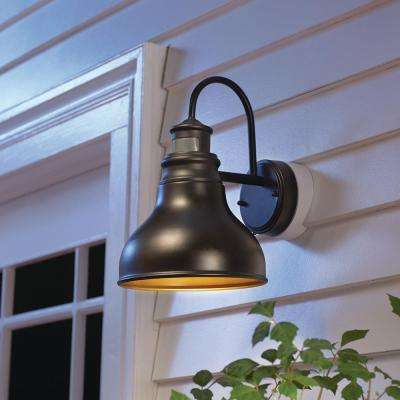 Oil Rubbed Bronze Outdoor LED Motion Sensor Wall Barn Light Sconce Latern