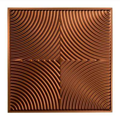 Echo - 2 ft. x 2 ft. Lay-in Ceiling Tile in Oil Rubbed Bronze