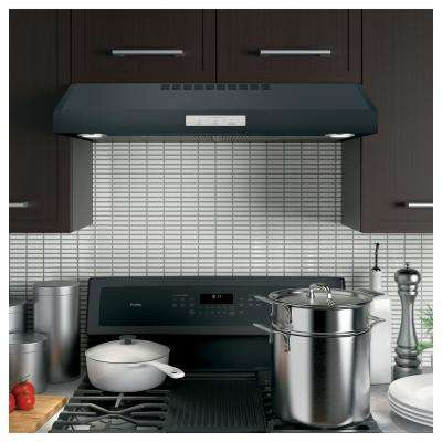 Profile 30 in. Convertible Under the Cabinet Range Hood with LED Light in Black Slate, Fingerprint Resistant