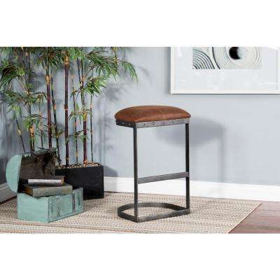 Tahoe 30 in. Brown Metal Bar Stool