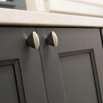 1-3/4 in. x 3/4 in. Wisteria Bright Nickel Cabinet Knob