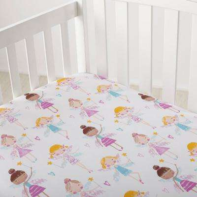 Good Fairies Cotton Percale Crib Sheet