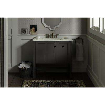 Tresham 36 in. W Vanity in Mohair Grey with Vitreous China Vanity Top in White Impressions Basin