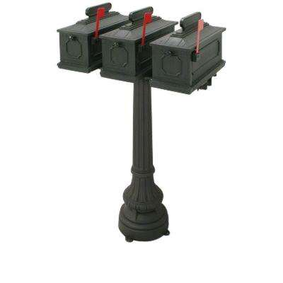 1812 Park Ridge 50 in. Plastic Mailbox with Post